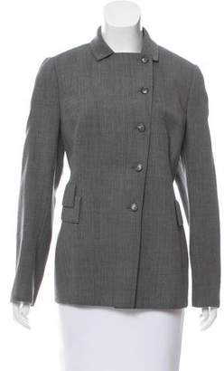Akris Button-Up Wool Jacket