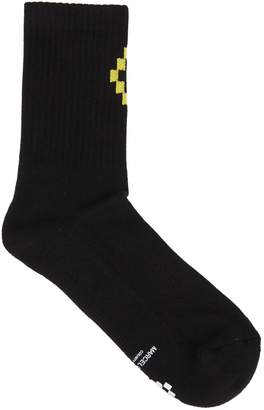 Marcelo Burlon County of Milan Cross Detail Socks