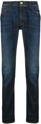 Class Roberto Cavalli logo patch slim-fit jeans