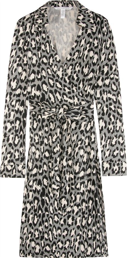 Diane Von Furstenberg Jeanne Silk Wrap Dress