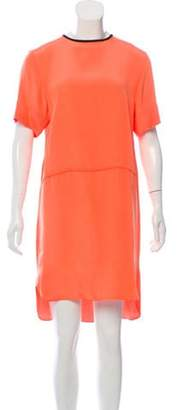 Cédric Charlier Knee-Length High-Low Dress Orange Knee-Length High-Low Dress