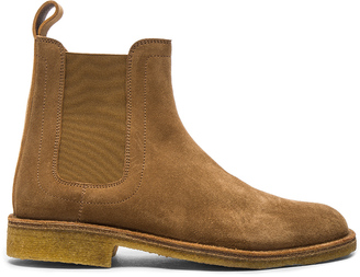 Bottega Veneta Suede Chelsea Boots $770 thestylecure.com