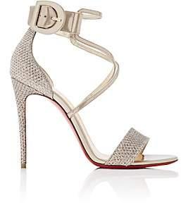 Christian Louboutin Women's Choca Specchio Leather & Mesh Sandals - Colombe