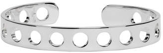 Maison Margiela Silver Perforated Cuff Bracelet