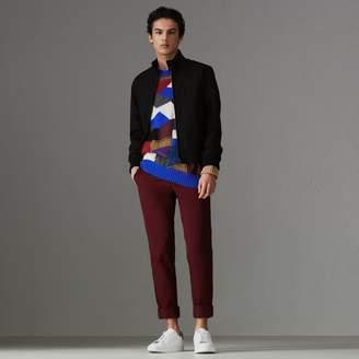 Burberry Slim Fit Tropical Gabardine Harrington Jacket , Size: 50, Black