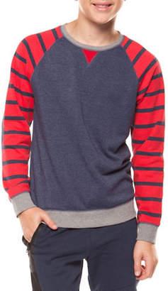 Dex Stripe-Sleeve Sweater