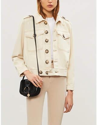 Free People Eisenhower contrast-stitch denim jacket