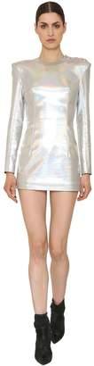 Balmain Iridescent Stretch Jersey Mini Dress