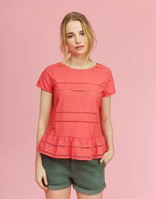 Joules Red Sky Primrose Peplum T-Shirt