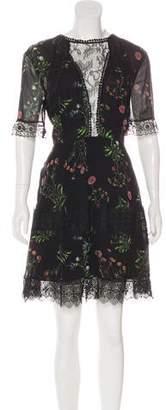 Nicholas Lace-Trimmed Silk Dress