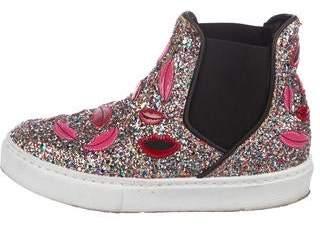 Chiara Ferragni Embroidered Glitter Sneakers