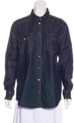 Givenchy Denim Long Sleeve Button-Up