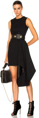 Alexander McQueen Light Wool Silk Drape Sleeveless Mini Dress