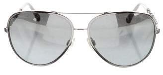 Chanel Chain-Link Aviator Sunglasses