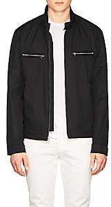 Michael Kors MEN'S TECH-TWILL MOTO JACKET-BLACK SIZE S