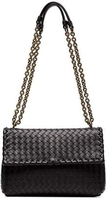 Bottega Veneta black Olympia leather shoulder bag