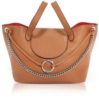 Meli-Melo Tan Leather Linked Thela Medium Tote Bag