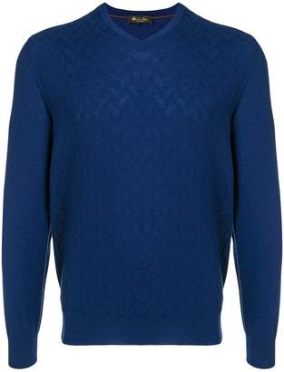 Loro Piana cashmere textured V-neck sweater
