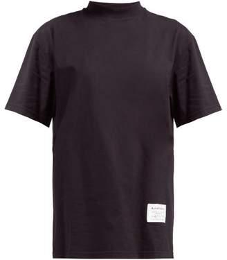 Acne Studios Wash Label Mock Neck Cotton T Shirt - Womens - Black