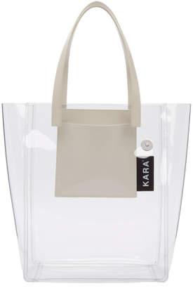Kara SSENSE Exclusive Transparent PVC Pinch Tote