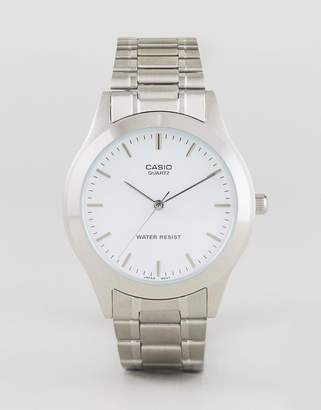 Casio Silver Stainless Steel Strap Watch MTP1128A-7A