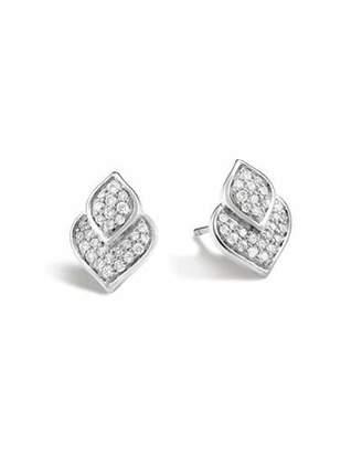 John Hardy Naga Stud Earrings w/ Diamonds