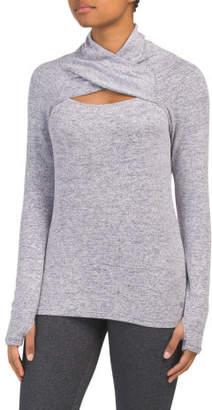 Cross High Neck Sweater