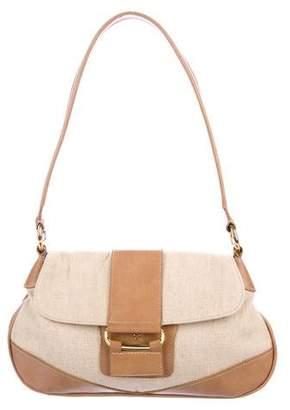 Etienne Aigner Leather-Trimmed Shoulder Bag
