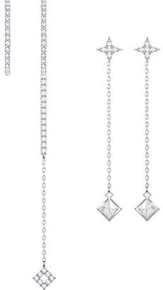 Swarovski Women Stainless Steel Dangle & Drop Earrings - 5374830