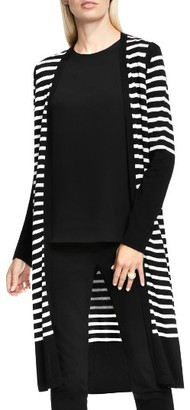 Women's Vince Camuto Stripe Long Cardigan $119 thestylecure.com