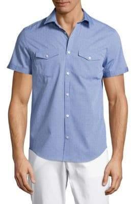 Calvin Klein Textured Cotton Button-Down Shirt