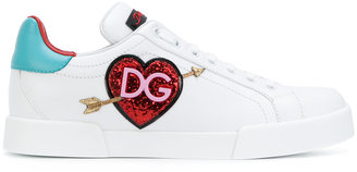 Dolce & Gabbana appliqué logo heart sneakers $645 thestylecure.com
