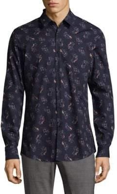 Strellson Slim-Fit Floral Button-Down Shirt
