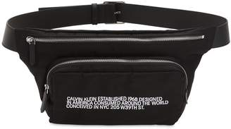 Calvin Klein Logo Nylon & Leather Belt Pack