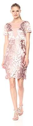 Jax Women's Short Sleeve Novelty lace Sheath