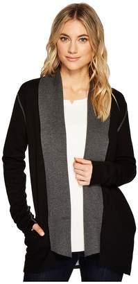 Michael Stars Luxe Cotton Reversible Shawl Collar Cardigan Women's Sweater