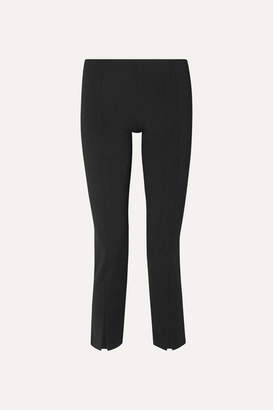 The Row Thilde Stretch-cady Straight-leg Pants - Black