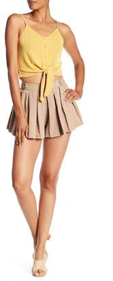 Lily White Solid Shorts