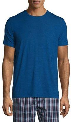 Derek Rose Short-Sleeve Jersey T-Shirt, Blue $95 thestylecure.com