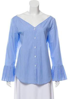 Iris & Ink Striped Button-Up Top