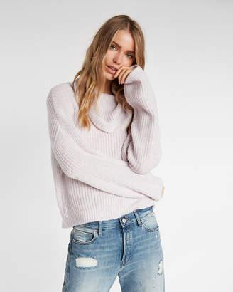 Express Metallic Cowl Neck Sweater