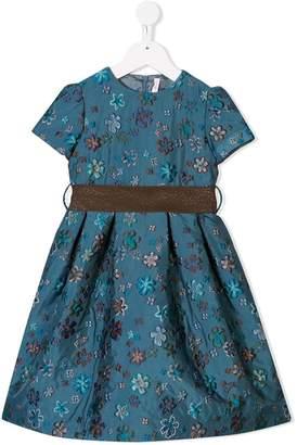 Il Gufo floral jacquard party dress