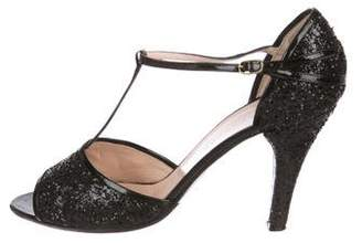 Marc Jacobs Glitter T-Strap Sandals
