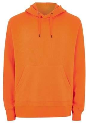 Topman Mens Pink Orange Overhead Hoodie