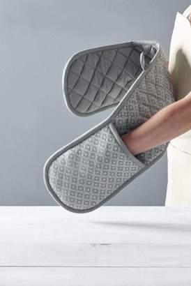 Next Grey Geo Double Oven Gloves