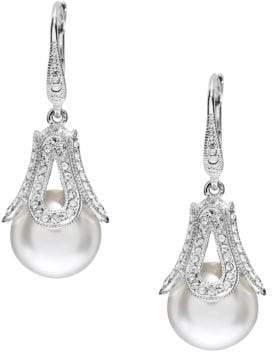 Nadri Pearl Tear Drop Earrings