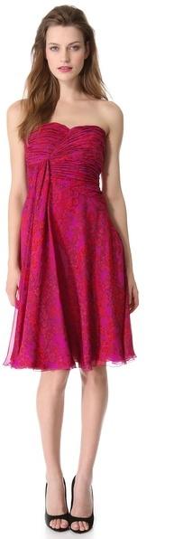 Giambattista Valli Strapless Silk Dress