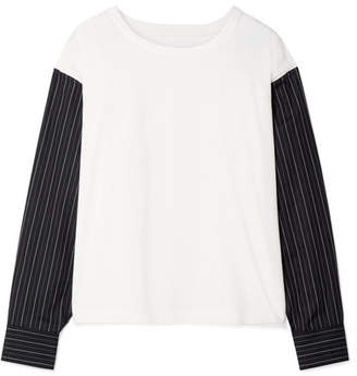 MM6 MAISON MARGIELA Paneled Cotton-jersey Sweatshirt