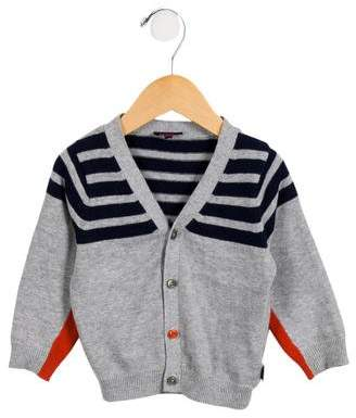 Paul Smith Boys' Striped V-Neck Cardigan