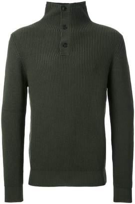 Kent & Curwen buttoned high neck jumper